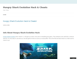 hungrysharkevolutions.wordpress.com screenshot