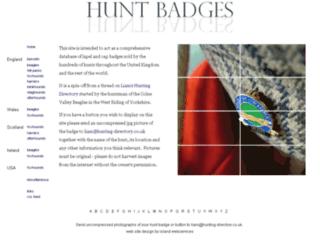 hunt-badges.co.uk screenshot