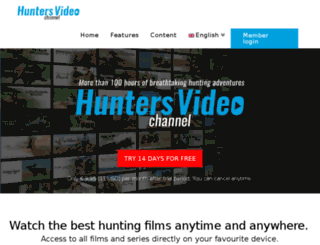 huntersvideo.com screenshot