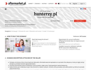 hunterzy.pl screenshot