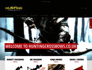huntingcrossbows.co.uk screenshot