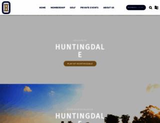 huntingdalegolf.com.au screenshot