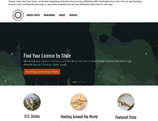 huntinglicense.com screenshot