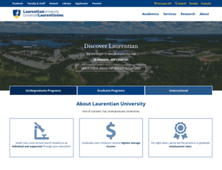 huntington.laurentian.ca screenshot