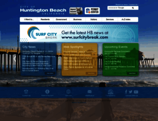 huntingtonbeachca.gov screenshot