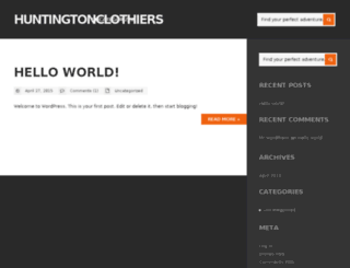huntingtonclothiers.com screenshot