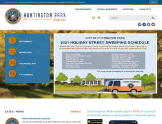 huntingtonpark.org screenshot