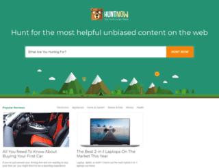 huntnow.co.uk screenshot