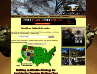 huntodds.monstermuleys.com screenshot