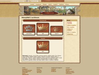 hup2.klanhaboru.hu screenshot