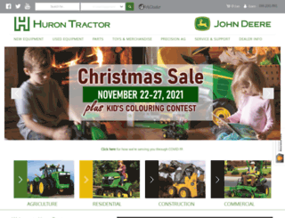 hurontractor.com screenshot