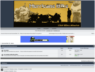 hurricane-bike-125.forumactif.fr screenshot