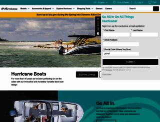 hurricaneboats.com screenshot