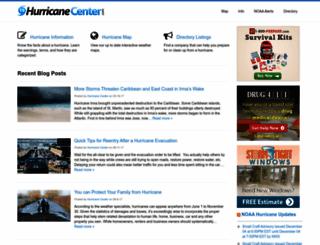 hurricanecenter.com screenshot