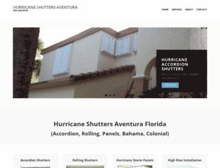 hurricaneshuttersaventura.com screenshot