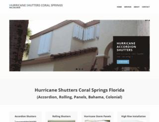 hurricaneshutterscoralsprings.com screenshot