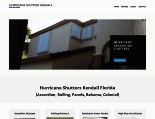hurricaneshutterskendall.com screenshot