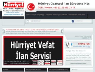 hurriyetvefatilanburosu.com screenshot