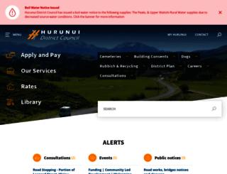 hurunui.govt.nz screenshot