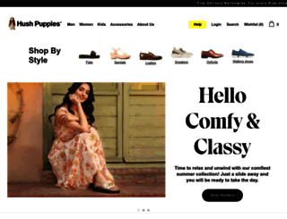 hushpuppies.com.pk screenshot