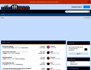 husky-owners.com screenshot