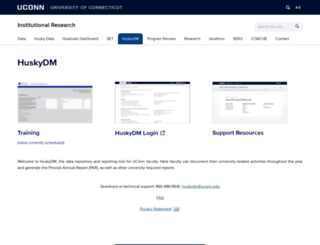 huskydm.uconn.edu screenshot