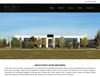 huskyfoods.com screenshot