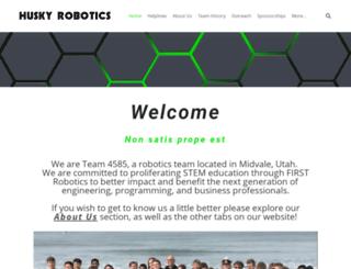 huskyrobotics.org screenshot