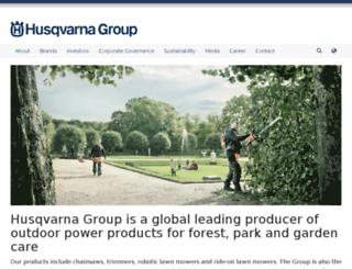husqvarnagroup.com screenshot