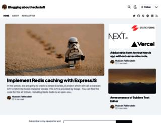 hussain.io screenshot