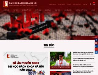 hust.edu.vn screenshot