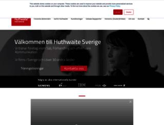 huthwaite.se screenshot