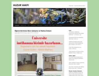 huzurvakfi.org screenshot