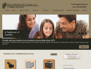 hvac.greenheatingandcooling.com screenshot