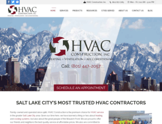 hvacinutah.com screenshot