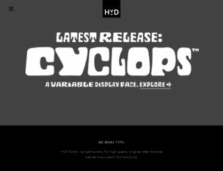 hvdfonts.com screenshot