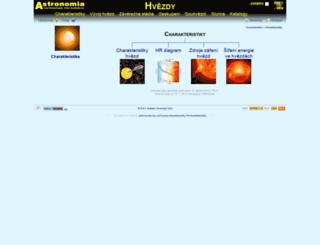 hvezdy.astro.cz screenshot