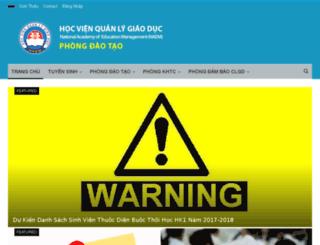 hvqlgd.edu.vn screenshot