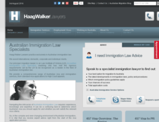 hwimmigrationlawyers.com.au screenshot