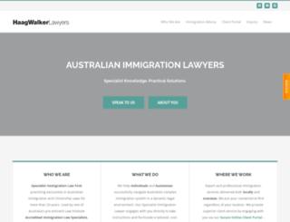hwimmigrationlawyers.com screenshot