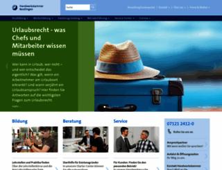 hwk-reutlingen.de screenshot
