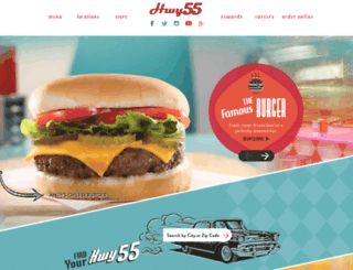 hwy55burgers.com screenshot