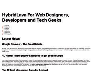 hybridlava.com screenshot