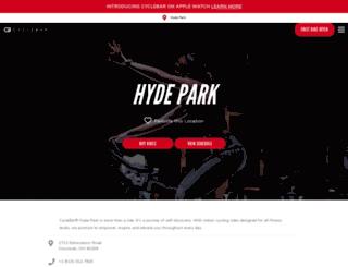 hydepark.cyclebar.com screenshot