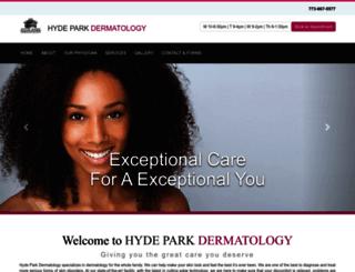 hydeparkdermatology.com screenshot