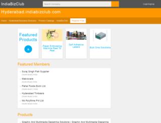 hyderabad.indiabizclub.com screenshot