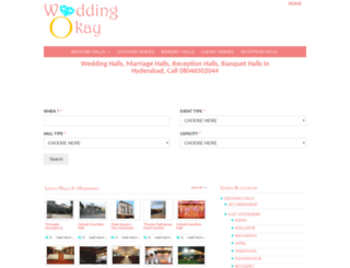 hyderabad.weddingokay.com screenshot