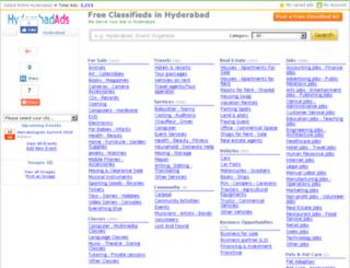 hyderabadads.com screenshot