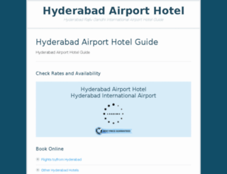 hyderabadairporthotel.com screenshot