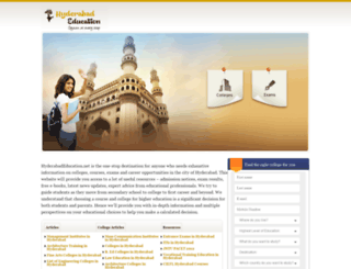 hyderabadeducation.net screenshot